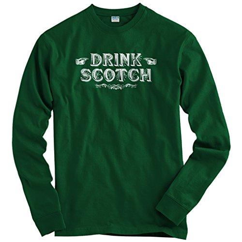smash-vintage-mens-drink-scotch-long-sleeve-t-shirt-dark-green-small