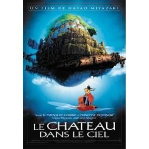 Castle in the sky Studio Ghibli poster sky