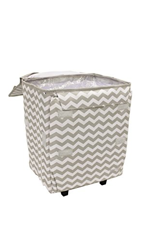 cooler-smart-cart-grey-chevron-insulated-collapsible-rolling-cooler-tailgating-bbq-beach-summer