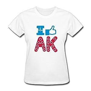 Love AK Sport T Shirt For Women,Geek Tshirts