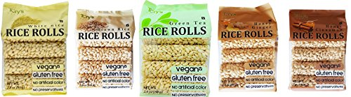 Tory's Rice Crunchy Rice Rolls Variety Pack-40 Rolls (Pack of 5), White Rice, Brown Rice, Green Tea, Honey Ginger, Honey Cinnamon (Pack of 5) (Rice Cakes Variety Pack compare prices)