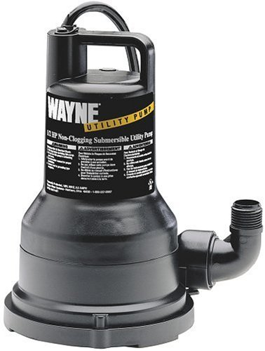 Wayne Water Systems VIP50 1/2 HP 2,500 GPH Submersible Utility Water Pump