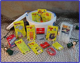 Bass Bucket - O - Tackle / Fishing Gift Basket