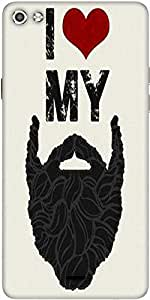 Snoogg I Love My Beard 2766 Designer Protective Back Case Cover For Micromax Canvas Silver 5 Q450