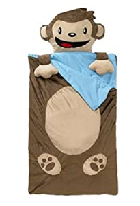 Plush Nap Mat/Sleeping Bag (Monkey)