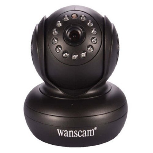 Wanscam Jw0004 Indoor Wi-Fi P2P Baby Monitor Ip Camera Pan Tilt Ir Distance 10 Meter 3.6Mm Lens Support Iphone 3G Phone Smartphone View - Black Wan003