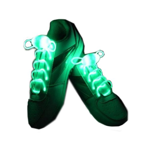 Urparcel Light Up Led Shoelaces Flashing Party Bar Dance Disco Shoe Laces Shoe Strings With Continuous And Blinking Modes Green
