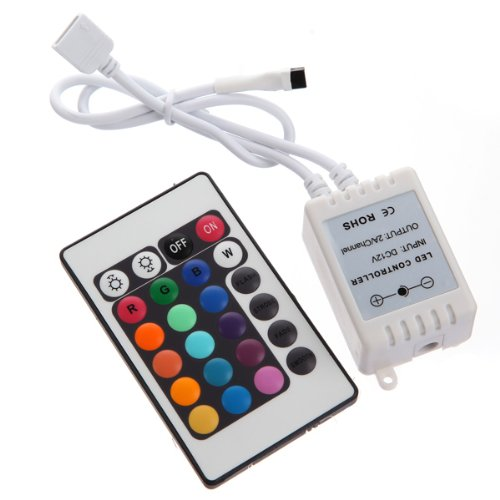 24 Key Wireless Ir Remote Rgb Led Controller 16 Colors 5050 Smd Light Strip 12V