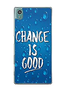 YuBingo Change is Good Designer Mobile Case Back Cover for Sony Xperia Z5