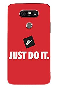 Blue Throat Just Do It Hard Plastic Printed Back Cover/Case For LG G5