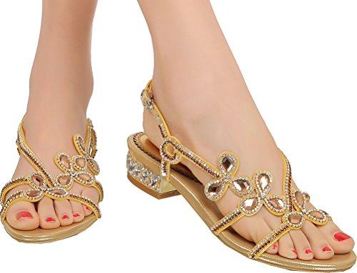 flat gold sandals women