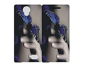 Techno Gadgets Flip Cover for Micromax Canvas 5 Lite Q463