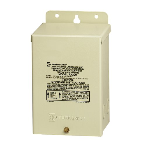 Intermatic Px300 300-Watt Safety Transformer Steel Enclosure, Beige