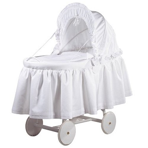 Picci Bassinet with Comforter In Crystal- In White