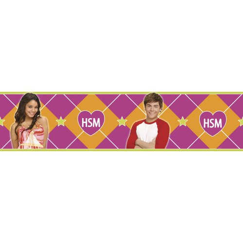 Blue Mountain Wallcoverings DS026452 High School Musical Self-Stick Wall Border, 5-Inch by 15-Foot