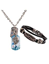 DRAGON Pendent Necklace Combo Wrist Band