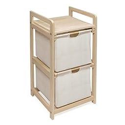 Badger Basket 2 Drawer Hamper/Storage Unit, Natural
