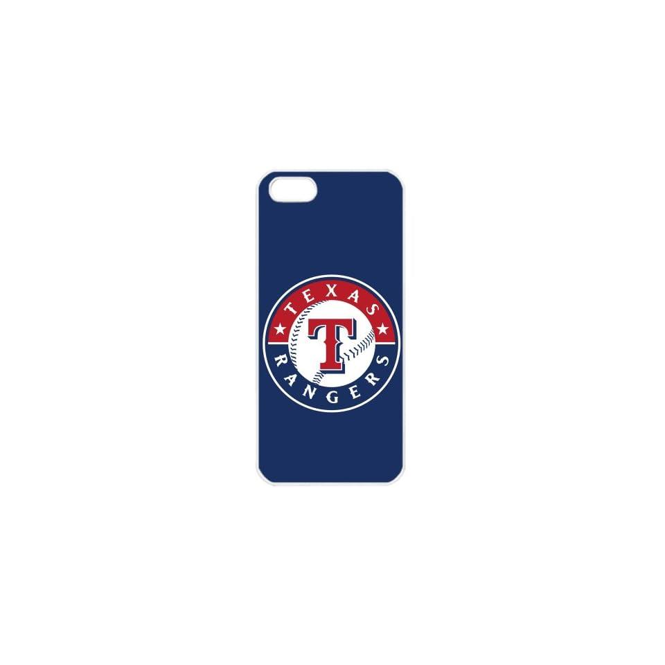 MLB Major League Baseball Texas Rangers Apple iPhone 5 TPU Soft Black or White case (White) Cell Phones & Accessories