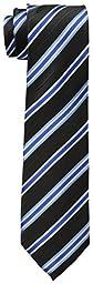 Dockers Big Boys\' Stripe Necktie, Black, One Size