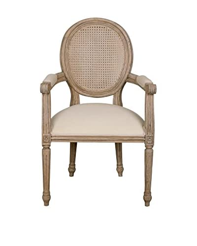Jeffan Louise Arm Dining Chair, Natural As You See