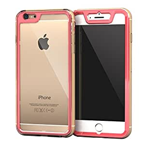 roocase iPhone 6 Plus Case, Gelledge Premium Hybrid PC / TPU Protective Full Body Case Cover (Persian Rose) Compatible