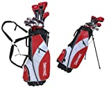 Spalding Men's SP88 Full Complete Golf Set - (Black/Red/White, Graphite, Right Hand)