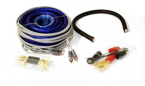 Gravity 0 Gauge Amplifier Installattion Pro Flexible Kit Cables 3000W Blue