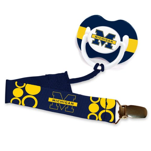Baby Fanatic Pacifier Clip, University Of Michigan front-952755