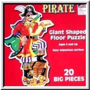 Picture of Fun Great American Puzzle Factory Pirate Giant Shaped Floor Puzzle (B000PCIGU4) (Floor Puzzles)