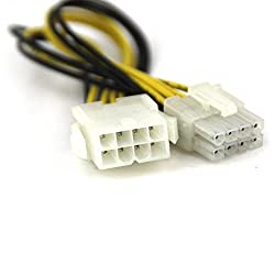CNCT SMPS 8 PIN EXTENSION IN 0.20M - 8 pin male to female suitable for extending 12V - 8pin cable of Power Supply from Cooler Master - Antec - Corsair - Thermaltek - NZXT