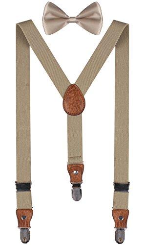 PZLE khaki suspenders khaki bowtie christmas bow tie boys khaki suspenders Khaki (Bow Ties Khaki compare prices)