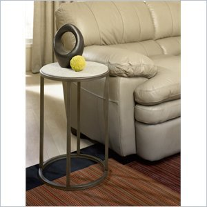 Cheap Hammary Modern Basics Round End Table in Textured Bronze (190-918)