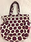 Thirty One Retro Metro Bag in Plum Mod Dot - No Monogram - 3218