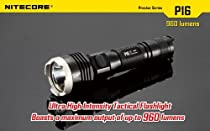 NiteCore 960-Lumens CREE XM-L2 LED Flashlight, Black