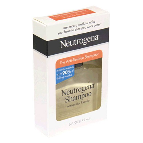 Neutrogena Shampoo, Anti-Residue Formula, 6 Ounce (Pack of 3)