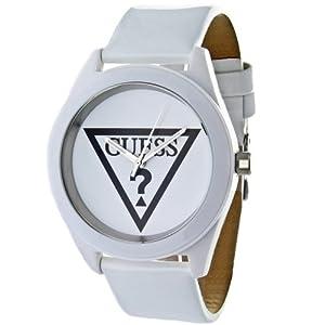 Guess - W65014L1 - Montre Femme - Quartz Analogique - Cadran Blanc - Bracelet Cuir Blanc