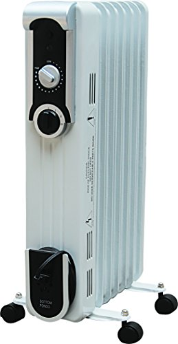 B001AH8JFA Seasons Comfort EOF201 Seven Fin Oil Filled Radiant Heater, White