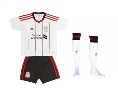 LIVERPOOL 2010/2011 Away Minikit, White/Black/Red, Age 2