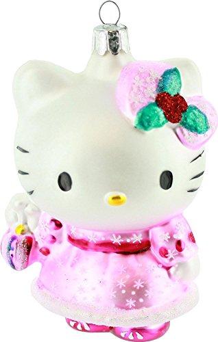 Kurt Adler HK0113 Glass Hello Kitty Ornament, Pink, 5-Inch