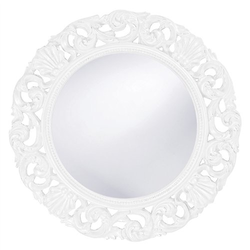 White Bedroom Vanity With Mirror front-61410