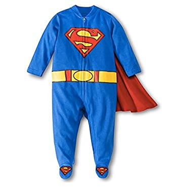 Baby Boys' Superman Caped Sleep N' Play Outfit