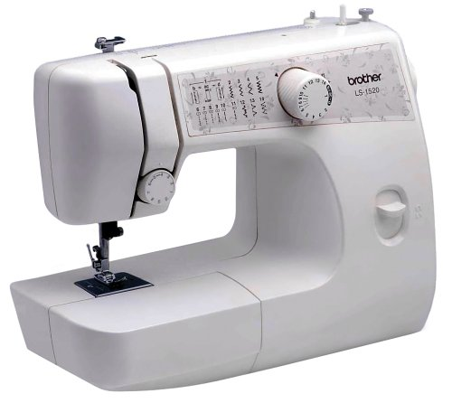 Brother LS1520 21-Stitch Function Free-Arm Sewing Machine with Automatic 4-Step Buttonholer