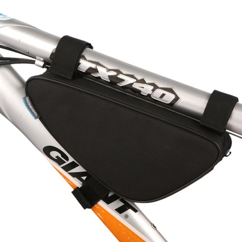 Cycling Bicycle Bike Bag Top Tube Triangle Bag Front Saddle Frame Pouch Outdoor Black (Bike Tool Bag compare prices)