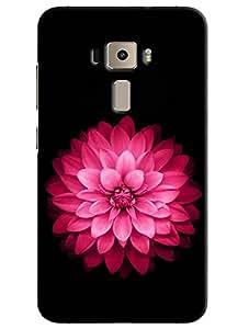 Omnam Pink Rose With Black Printed Designer Back Cover Case For Asus Zenfone 3 ZE552KL