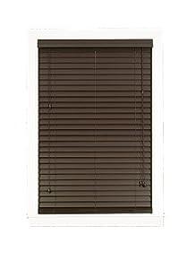 Achim Home Furnishings Madera Falsa 2-Inch Faux Wood Blind, 43-Inch by 64-Inch, Mahogany