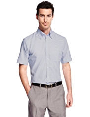 Collezione Pure Cotton Short Sleeve Spotted Shirt