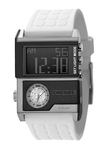 Diesel New Style Analog-Digital White Dual Dial Men's Watch DZ7141