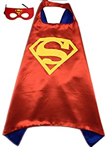 Superhero or Princess CAPE & MASK SET Kids Childrens Halloween Costume