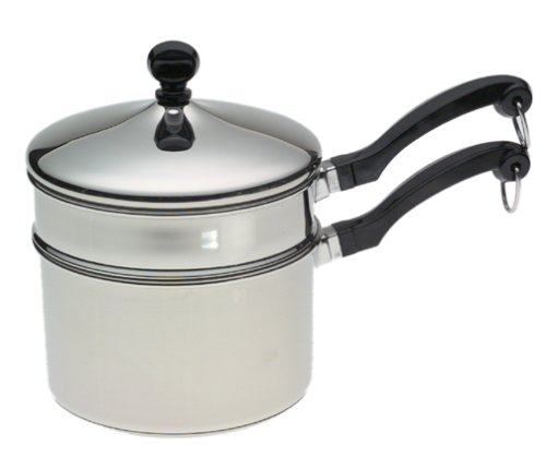 Farberware Classic Series 2-Quart Saucepan with Double Boiler Insert and Lid