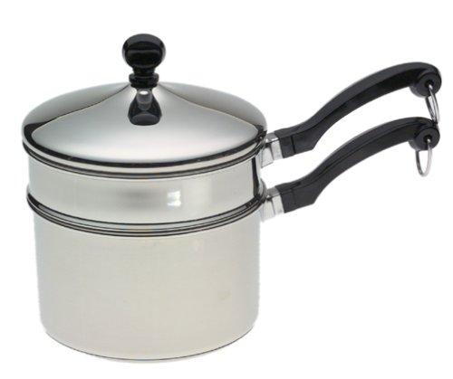 Farberware Classic Series 2-Quart Saucepan with Double Boiler Insert and Lid